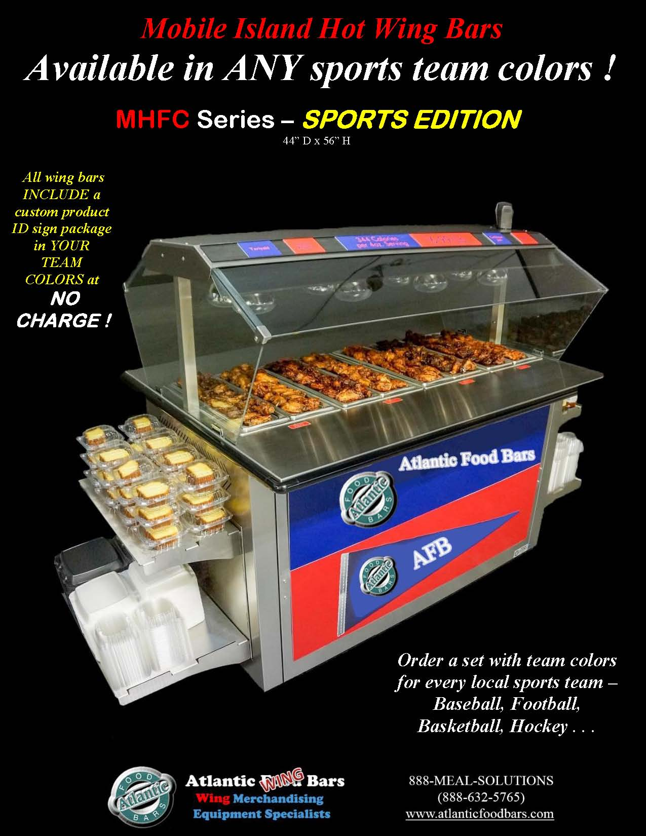 Atlantic Food Bars - Hot Wing Bar with Your Sports Team Colors - MHFC6044_Page_1