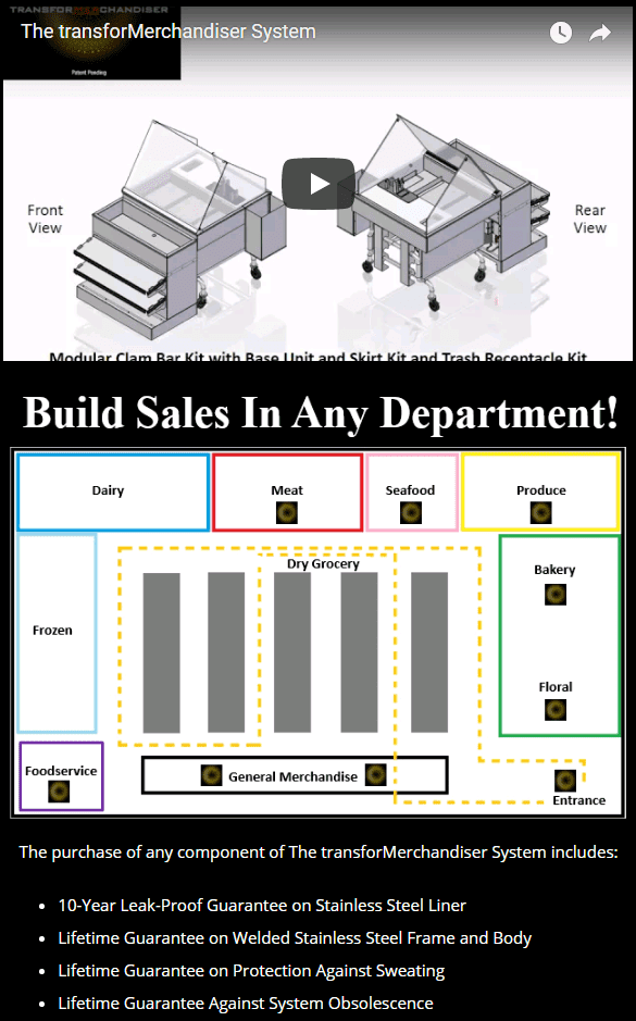 Atlantic Food Bars - Build Sales In Any Department with The transforMerchandiser System Modular Mobile Ice Table - MIT-M