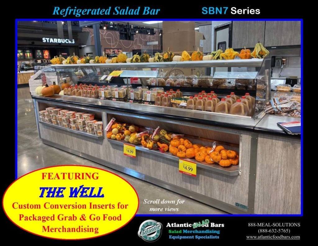 Atlantic Food Bars - Effectively and Temporarily Convert Your Salad Bar to Grab & Go Packaged Food Merchandising with The Well - Shown on In-Line Refrigerated Salad Bar - SB13839N7_Page_3
