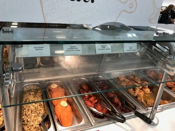 Atlantic Food Bars - Convertible Full Service to Self Service Sneezeguard for Refrigerated and Hot Food Bars