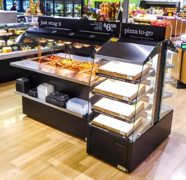 Mobile Hot Wing Bar and Self-Service Multi Level Hot Grab & Go Pizza and Sandwich Module - Atlantic Food Bars - MHFC6044 MHPF2446 1