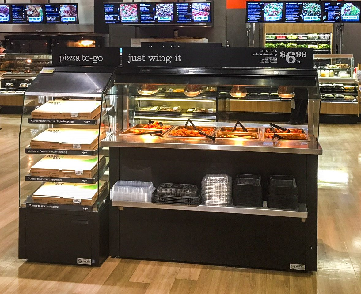 Mobile Hot Wing Bar and Self-Service Multi Level Hot Grab & Go Pizza and Sandwich Module - Atlantic Food Bars - MHFC6044 MHPF2446 2