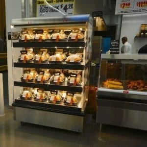 Multi-Level Hot Grab & Go Merchandiser with Flat Front Profile - Atlantic Food Bars - WRT-N-F 2