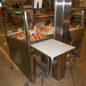 Custom Mobile Iced Stone Crab Merchandiser with Column Notch - Atlantic Food Bars 3