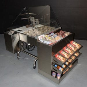 Mobile Oyster Shucking Station with Clam Bar Module - transforMerchandiser - Atlantic Food Bars - MIT3636-FSKT-MCB-OSSKT-TRKT 1