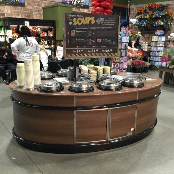 Oval Soup Bar with Refrigerated Cold Pan - Atlantic Food Bars - OSB9246-GC-ISW-RCP 1