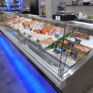 Refrigerated Seafood Case with LED Lighting - Atlantic Food Bars - (2) FSCN9642-LED 2