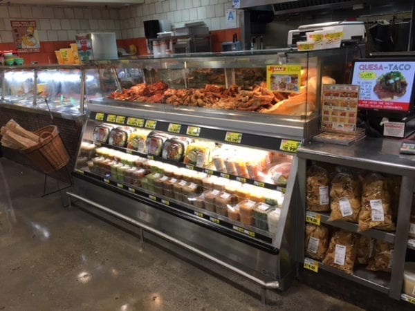 Combination Full Service Hot Bulk Food Over Self-Service Cold Food with Grease Catcher and Jewelry Style Top - ILRTTN10048-CUSTOM 2