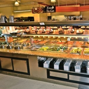 Custom Nantucket - Combination Island with Hot Packaged Food Over Hot Bulk Food, Hot Soup and Salad Bar - Atlantic Food Bars 1