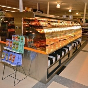 Custom Nantucket - Combination Island with Hot Packaged Food Over Hot Bulk Food, Hot Soup and Salad Bar - Atlantic Food Bars 2