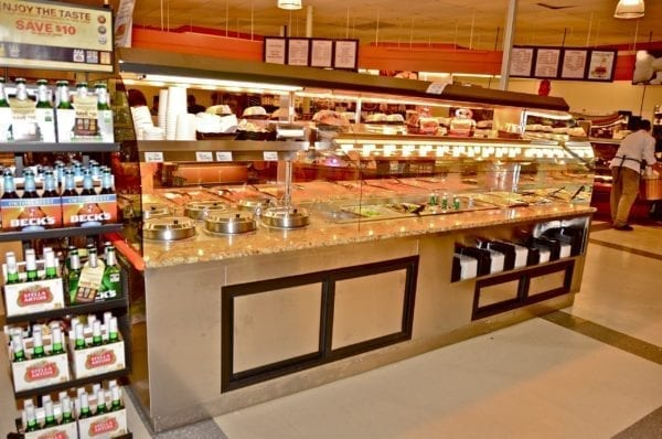 Custom Nantucket - Combination Island with Hot Packaged Food Over Hot Bulk Food, Hot Soup and Salad Bar - Atlantic Food Bars 3