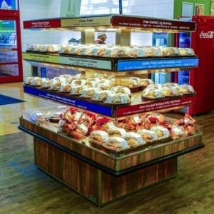 Island Express Plus Three Level Hot Grab and Go Merchandiser - Wide Model - Atlantic Food Bars - IMN7245-AS 5
