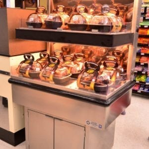 Low-Profile Two-Level Rotisserie Chicken Checkout Lane Merchandiser - Atlantic Food Bars - ECE2-3635 1