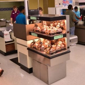 Low-Profile Two-Level Rotisserie Chicken Checkout Lane Merchandiser - Atlantic Food Bars - ECE2-3635 2