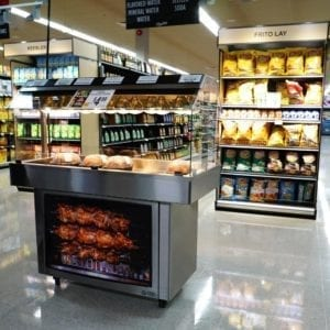 Mobile Packaged Hot Food Merchandiser - Single Level - Atlantic Food Bars - HH5125 1