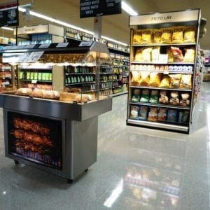 Mobile Packaged Hot Food Merchandiser - Single Level - Atlantic Food Bars - HH5125 2