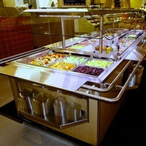 Narrow Island Salad Bar with Tray Slide - Atlantic Food Bars - ISBN8744-TS 4