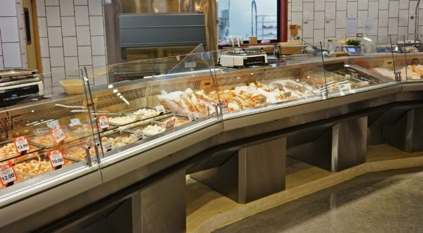 Refrigerated Seafood Display Cases on Pedestal Bases - Atlantic Food Bars - FSCN-W-P 3