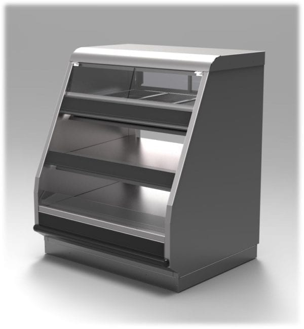 Titan Combination Full Service Bulk Hot Over Self Service Packaged Hot Food Merchandiser - Atlantic Food Bars - TTN2-4839 2