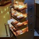 Wrangler Giant 3' Five Level Hot Chicken Merchandiser - Atlantic Food Bars - WR3629T-AS2-CE 1