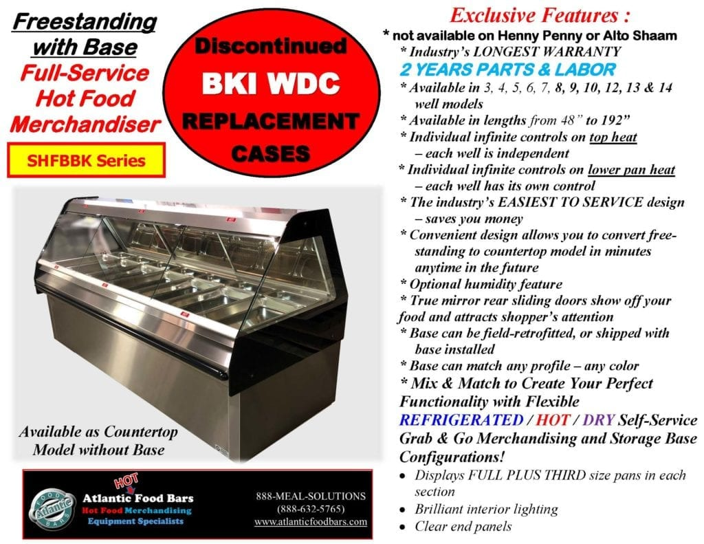 Atlantic Food Bars - Full Service Hot Food Bar with Modules and Options - Countertop and Freestanding Base Model - SHFBBK Presentation for Discontinued BKI WDC_Page_03