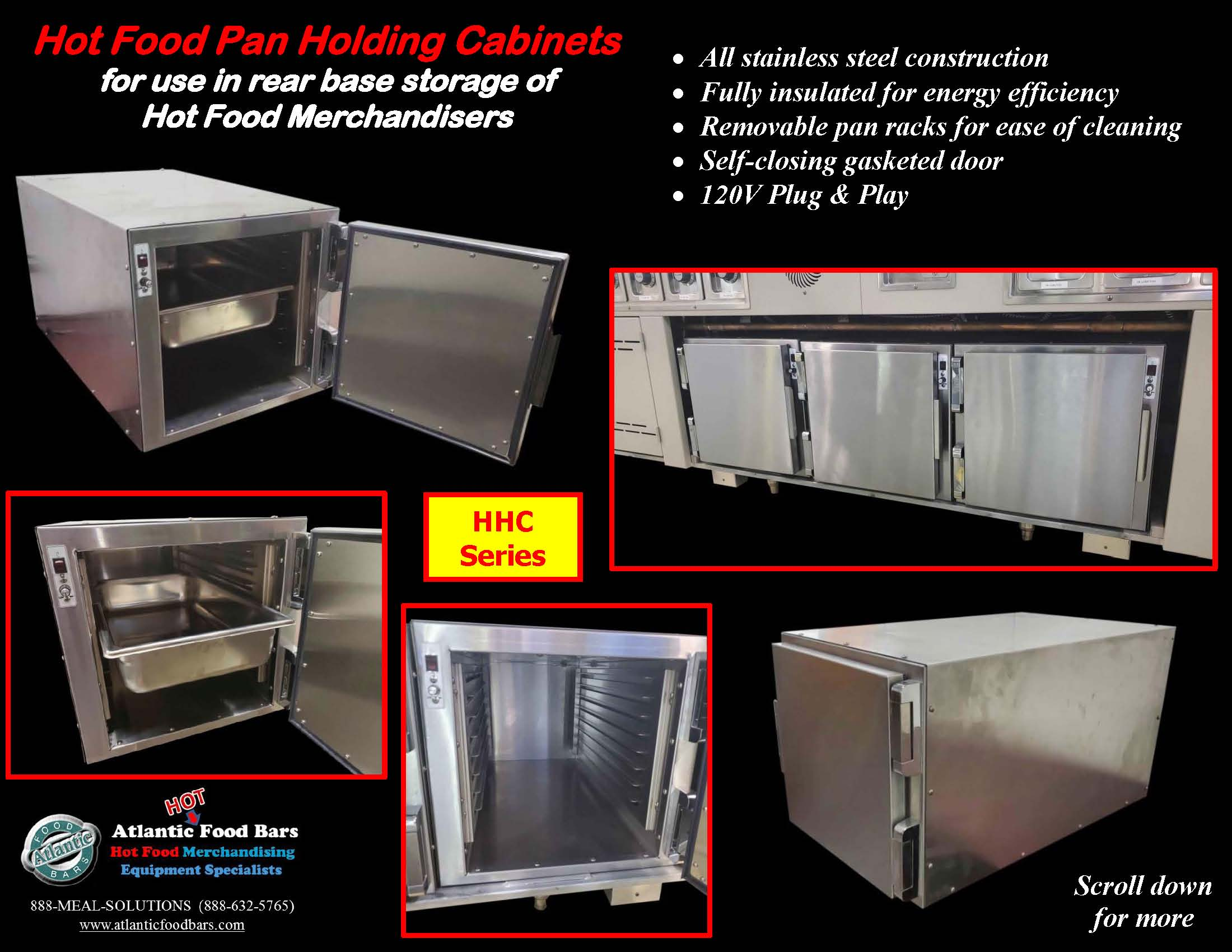 Atlantic Food Bars - Hot Food Pan Holding Cabinets for use in rear base storage of hot food merchandisers - HHC_Page_1
