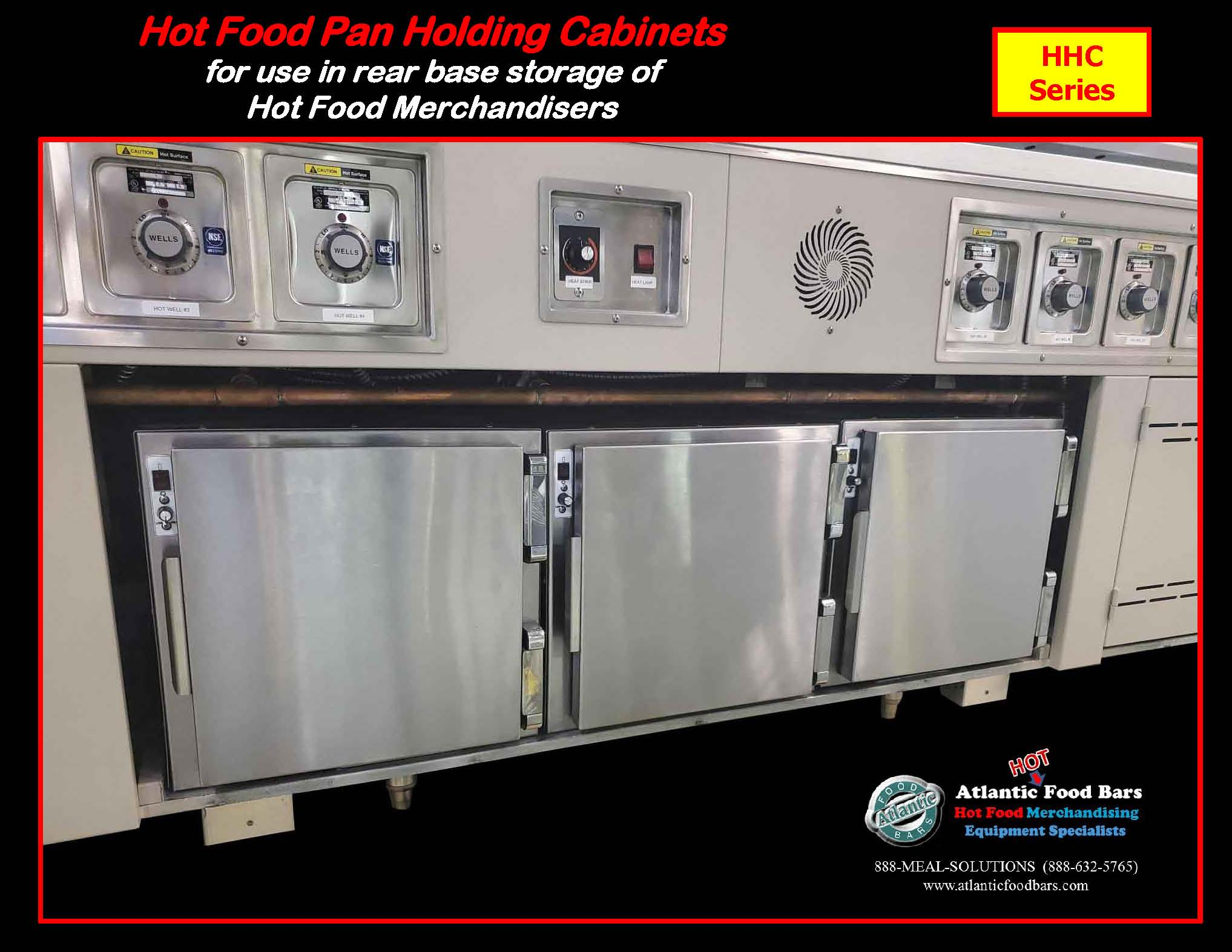 Atlantic Food Bars - Hot Food Pan Holding Cabinets for use in rear base storage of hot food merchandisers - HHC_Page_3