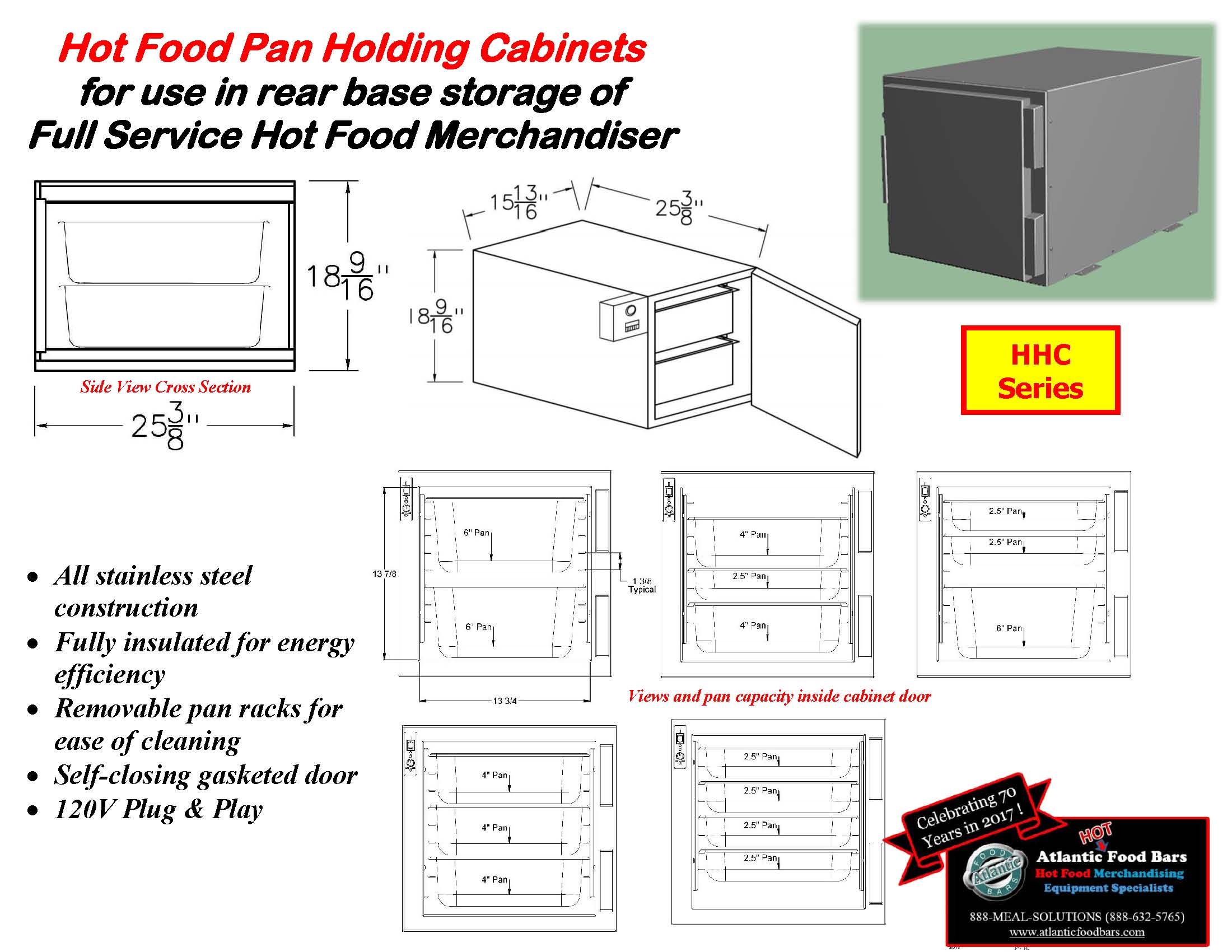 Atlantic Food Bars - Hot Food Pan Holding Cabinets for use in rear base storage of hot food merchandisers - HHC_Page_4