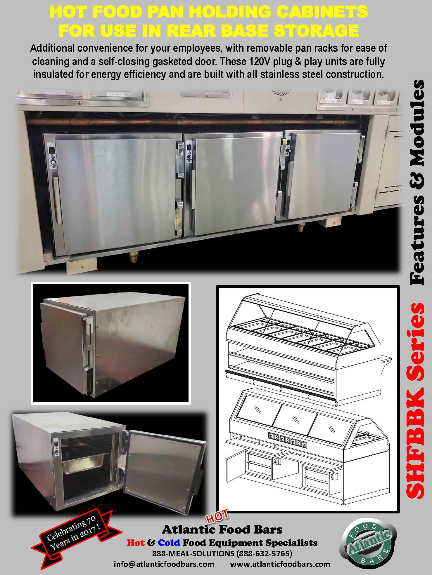 Atlantic Food Bars - Hot Food Pan Holding Cabinets for use in rear base storage of hot food merchandisers - HHC_Page_5